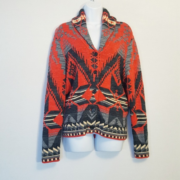 Escoba Conciliar Admisión  Lauren Ralph Lauren Sweaters   Southwestern Tribal Cardigan   Poshmark
